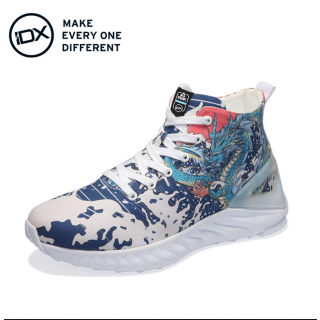 Peak TAICHI × IDX 龙腾 Couples Graffiti Canvas Shoes - 龙腾四海