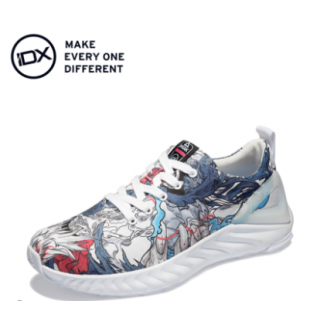 Peak TAICHI × IDX 故城 Women's Low-Top Graffiti Canvas Shoes