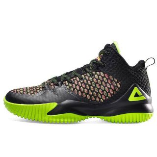 Peak Louis Williams Mens Streetball Master Basketball Shoes - Black/Fluorescent Green