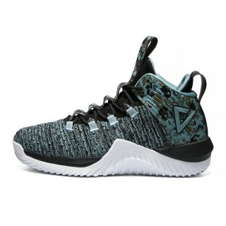 Peak Classic Mens Combat basketball shoes - Black/Green